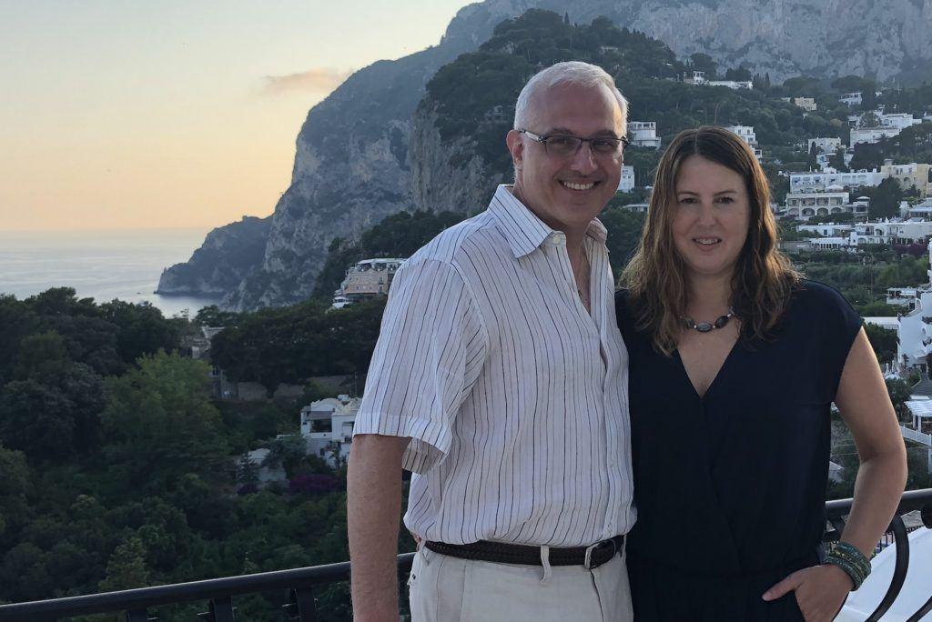 Couple at Hotel Scalinatella in Capri Italy