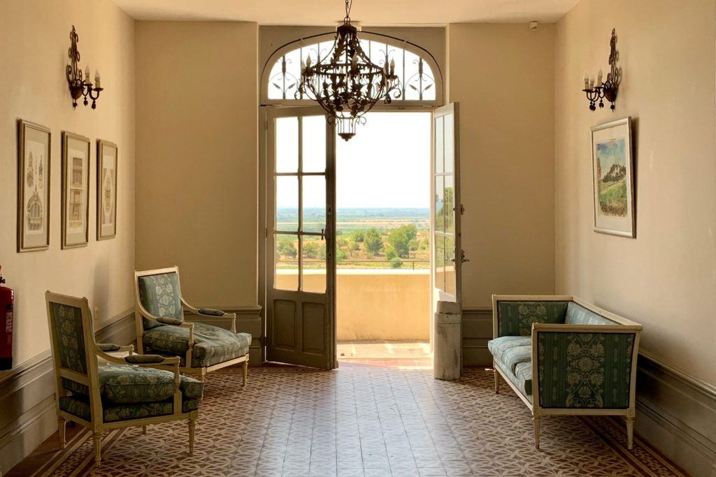 Foyer of the Chateau Les Carrasses