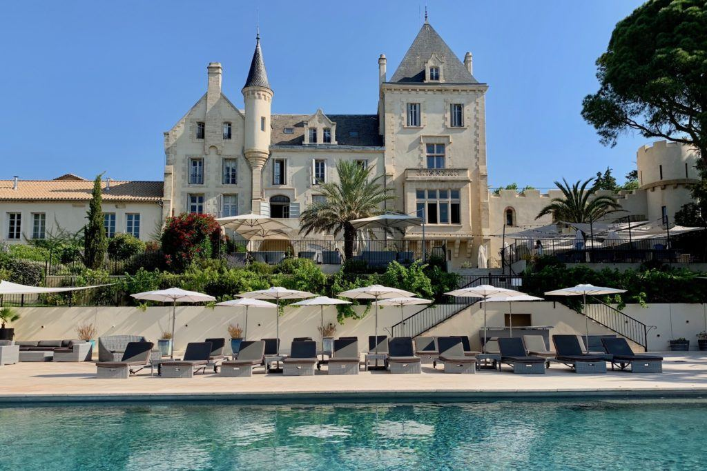 Chateau les carrasses from the pool
