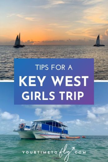 Tips for a Key West girls trip - sailboats at sunset and snorkel boat