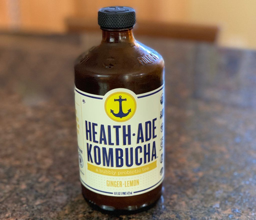Healthade Lemon Ginger Kombucha