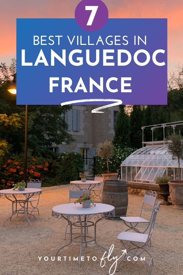 Best villages in Languedoc France at sunset