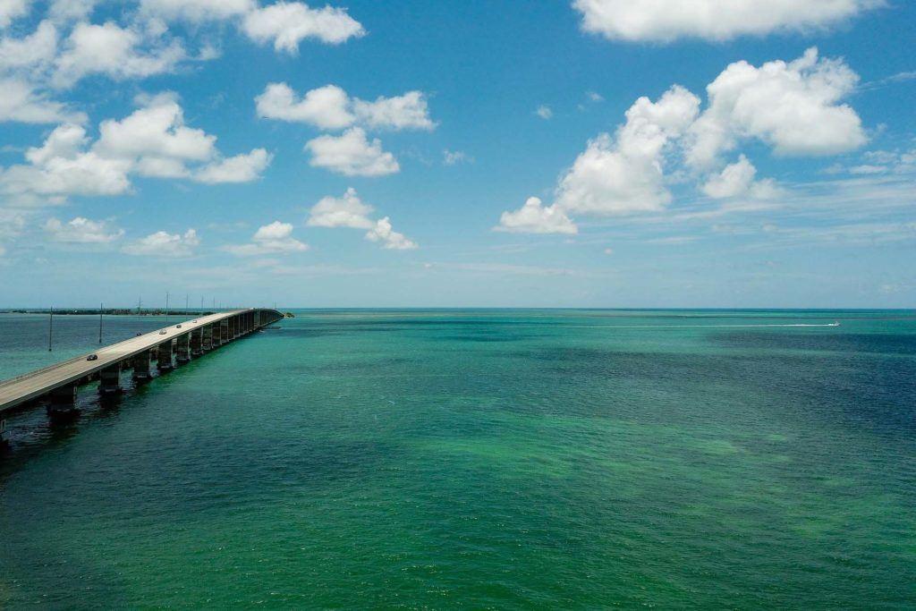 Florida Key bridge over water