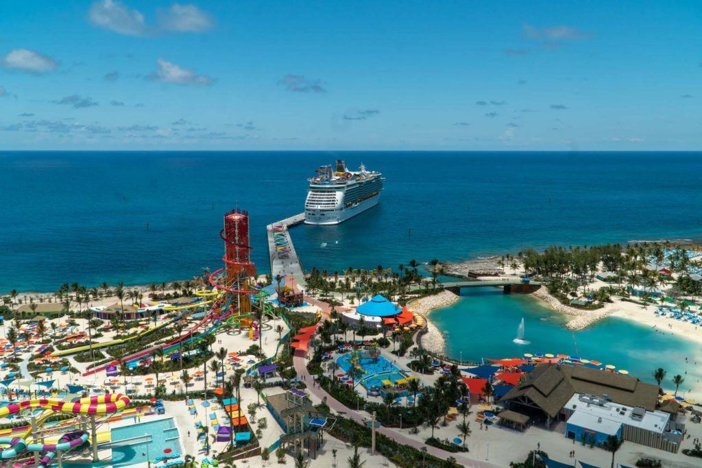 Perfect Day at Coco Cay from above