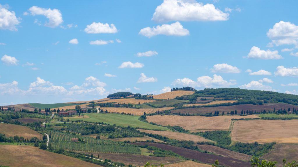 View of Pienza from Podere il Casale