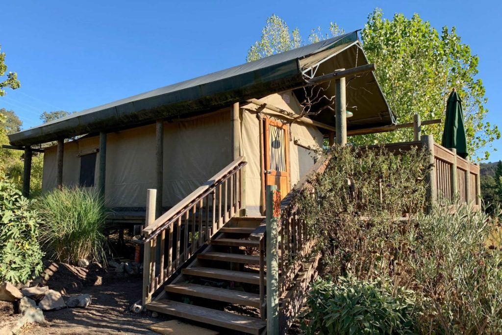 Safari West Glamping tent