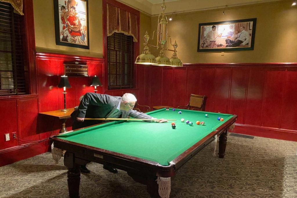 Vanderbilt Hotel billiards room