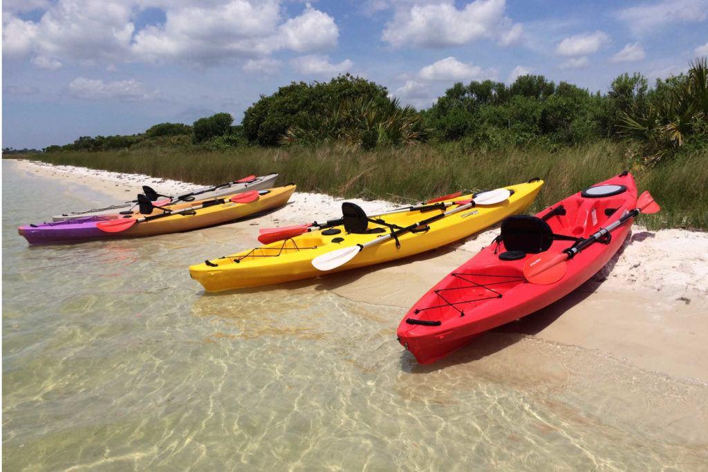 Kayaks on Bird Island Orange Beach