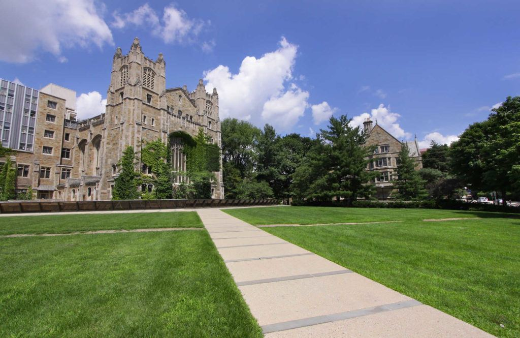 University of Michigan buildings and grass