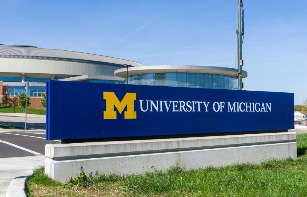 University of Michigan campus sign
