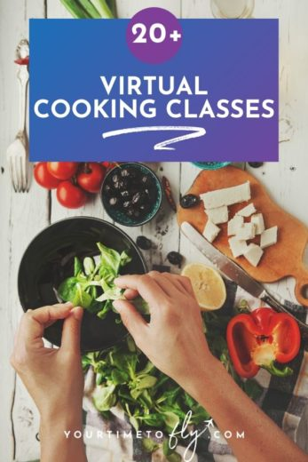 20+ virtual cooking classes