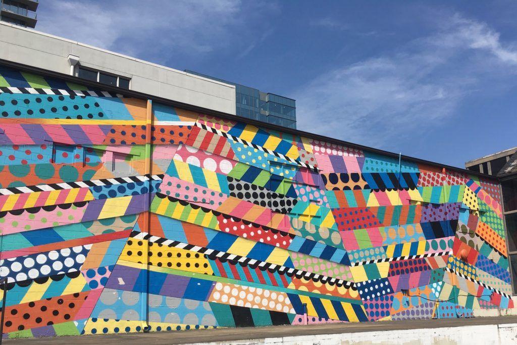 Nashville mural color block wall