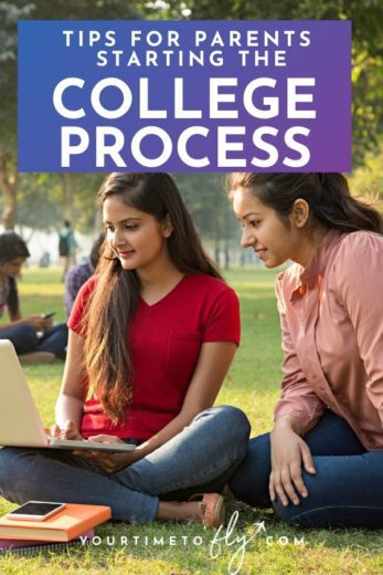 Tips for parents starting the college process