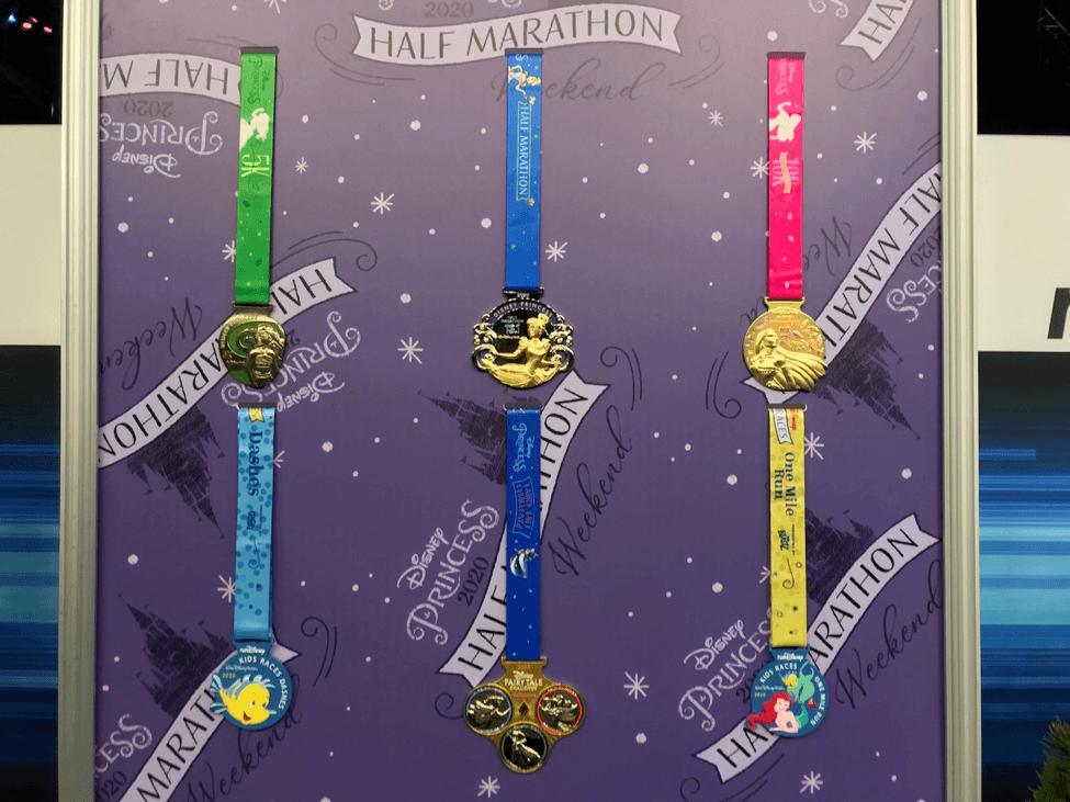 Disney half marathon medals