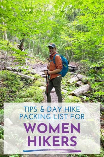Tips and day hike packing list for women hikers