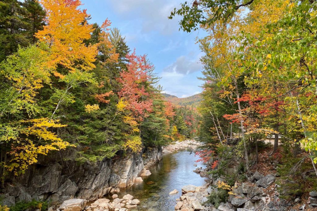 Rocky Gorge in New Hampshire at fall
