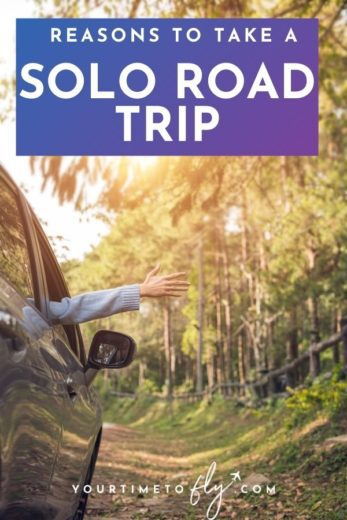 Reasons to take a solo road trip arm sticking out of car