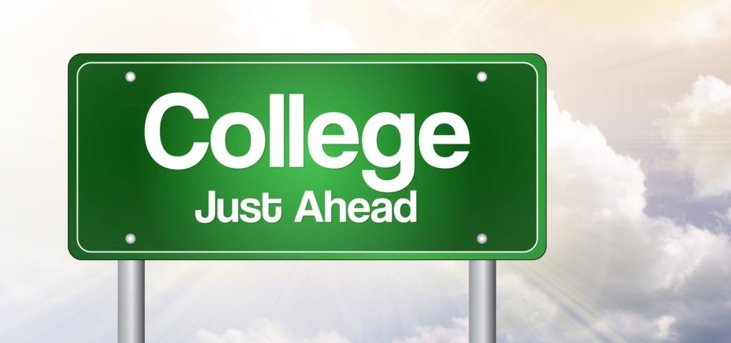 College just ahead billboard