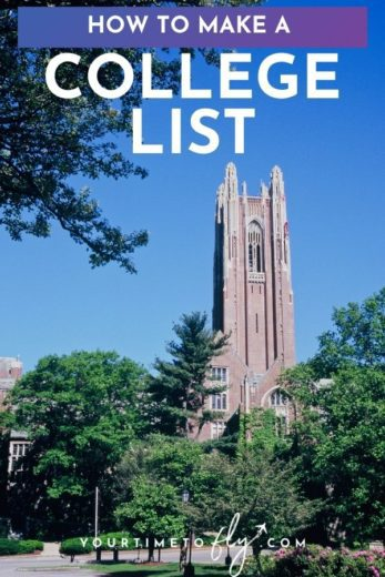 How to make a college list with a bell tower from a college