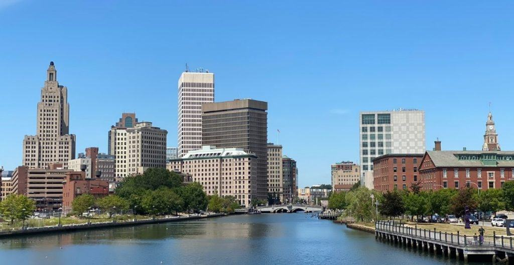 View of Downtown Providence from the Pedestrian Bridge
