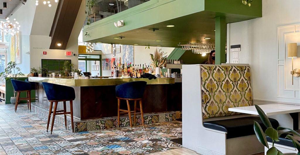 Sava's restaurant booth and bar in Ann Arbor Michigan