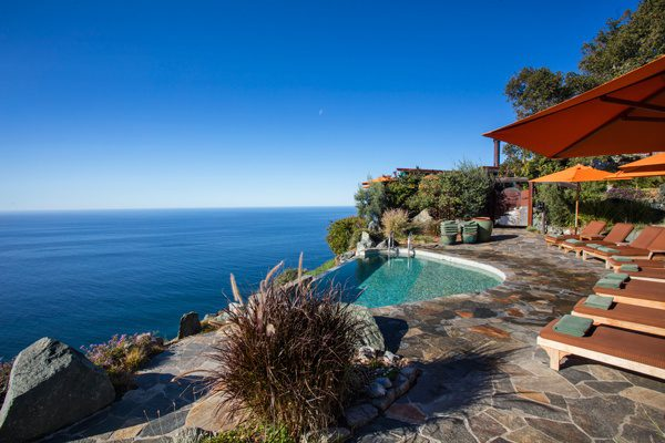 The Jade Pool overlooking ocean at the Post Ranch Inn