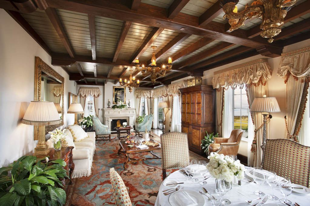 Living room of the Sea Island suite at The Cloister
