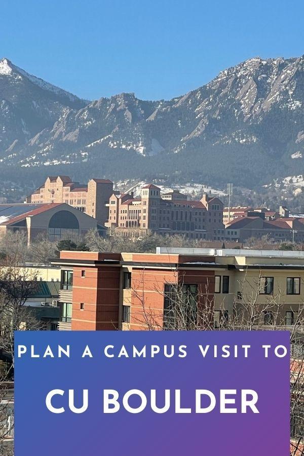 Plan a Campus visit to CU Boulder