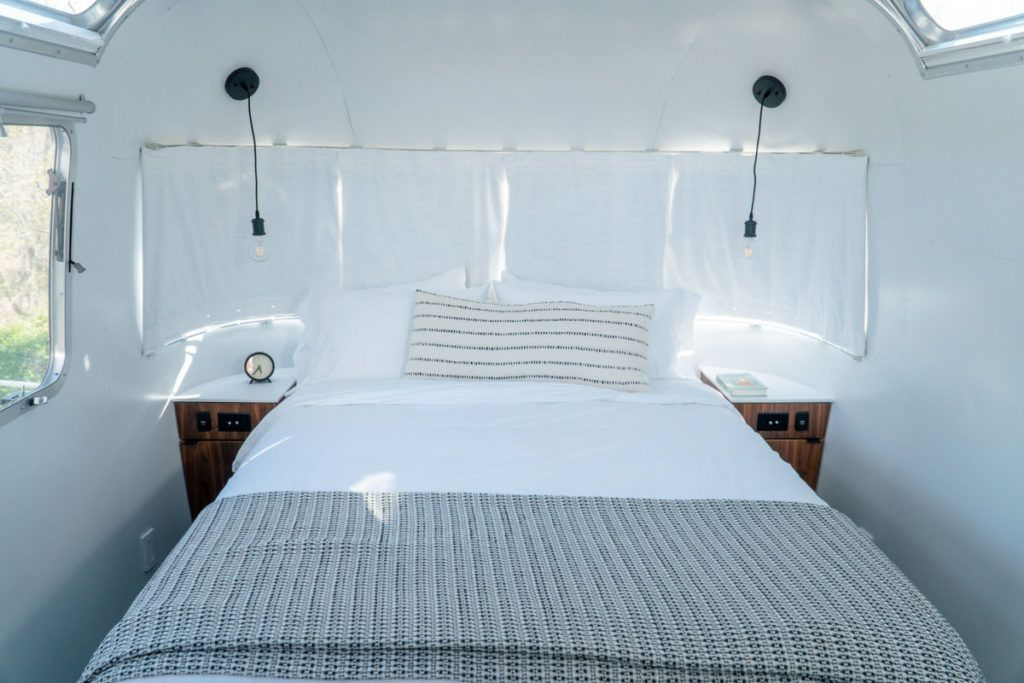 Airstream inside bedroom