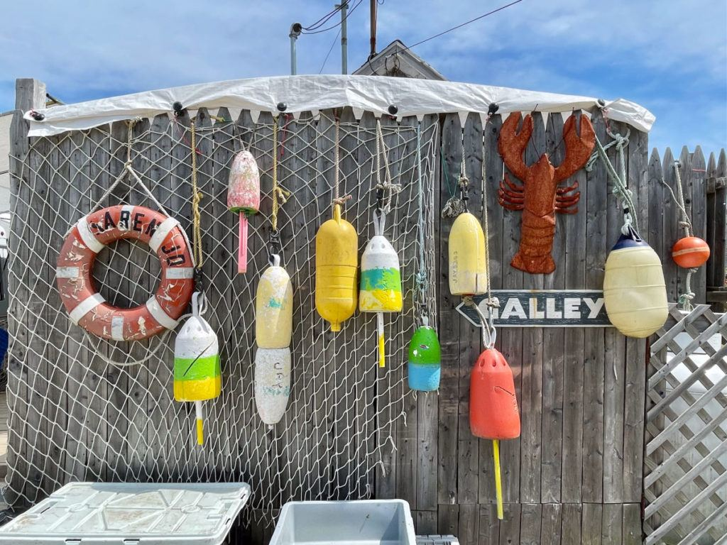 buoys on a fence in Corea