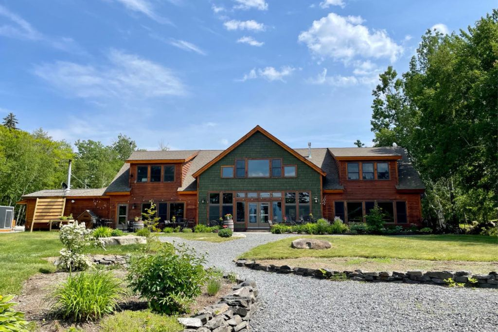 New England Outdoor Center lodge from the back