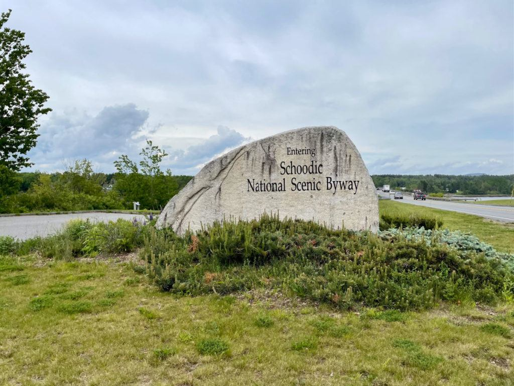 Schoodic National Scenic Byway sign