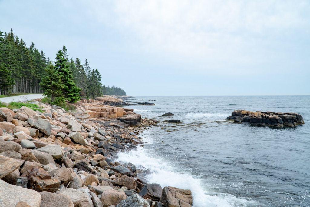 Overlook on the Schoodic national scenic byway