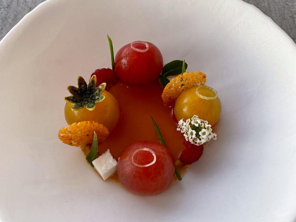 Tomato salad at Elements