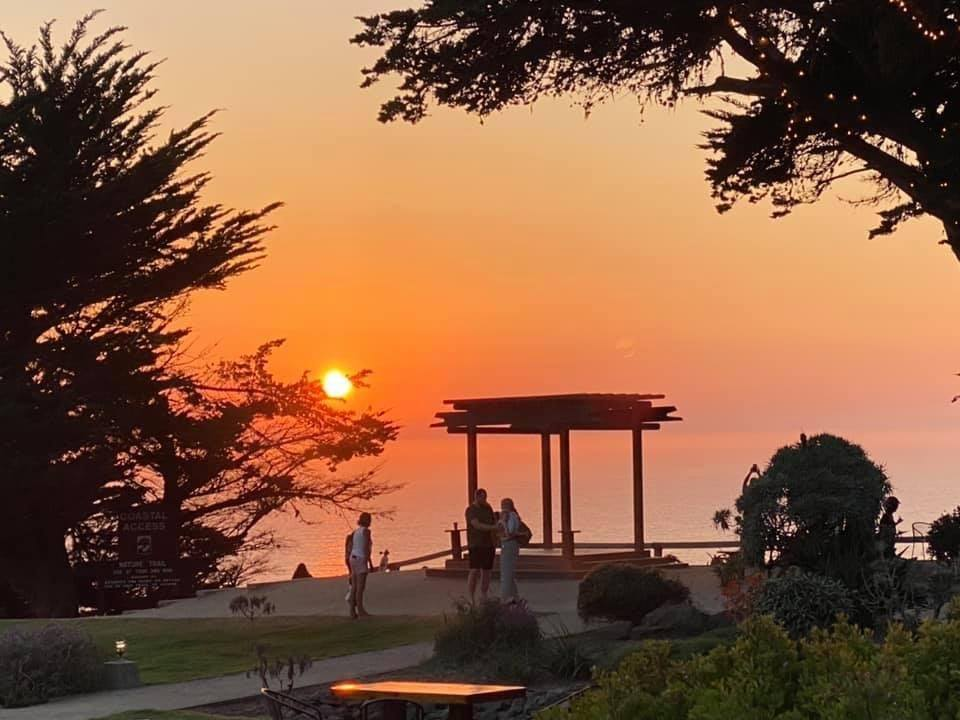 Ragged Point in Big Sur CA at sunset