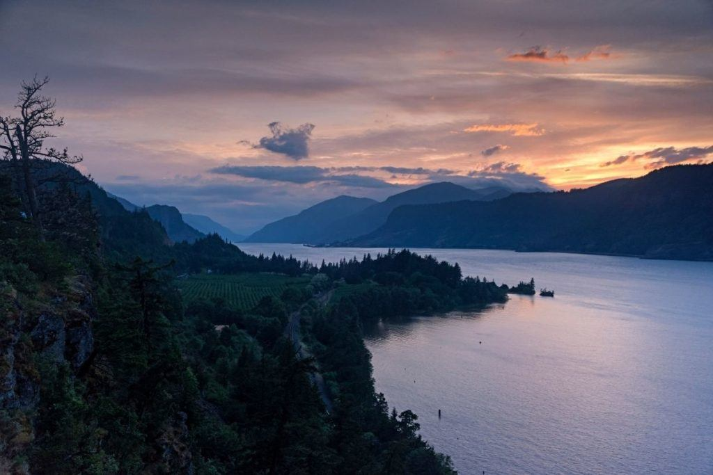 Hood River at sunset