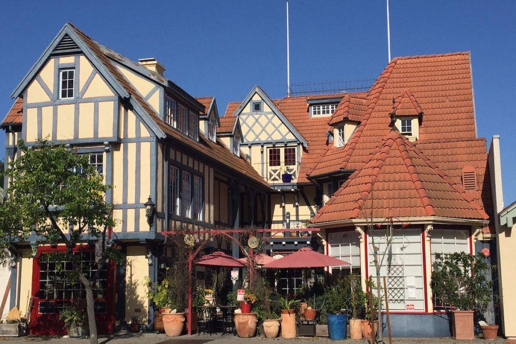 Tudor style buildings in Solvang