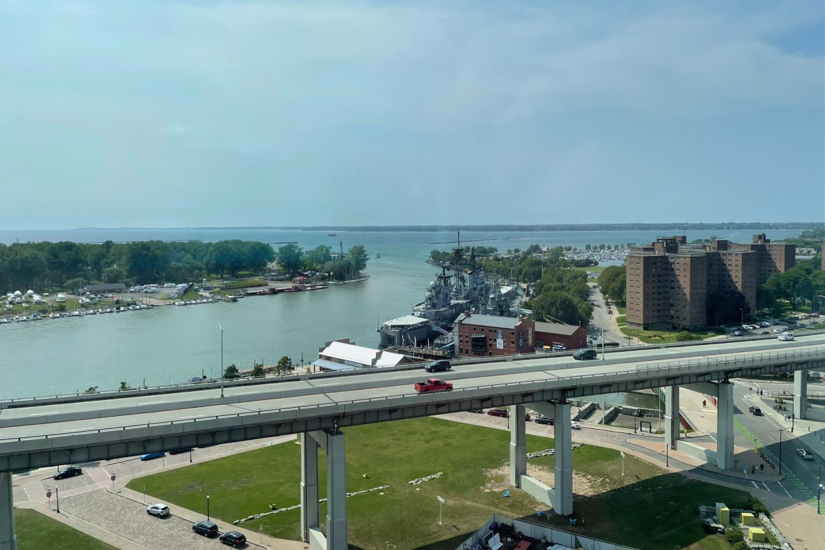 View of Canalside from the Buffalo Marriott Harborcenter